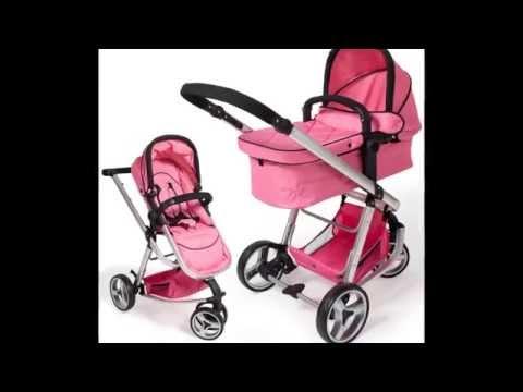 TecTake 3 en 1 Sillas de paseo coches carritos para bebes convertible rosa