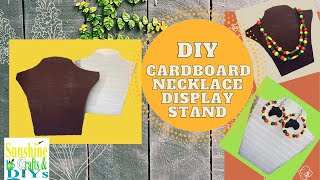 DIY Cardboard Display Stand - How To Make A Necklace Display Stand