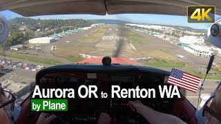 Flying from Aurora OR to Renton WA in a Cessna 172