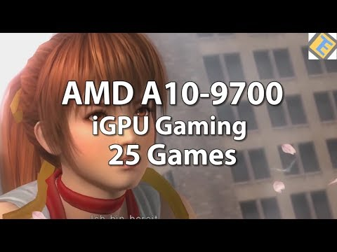 AMD A10-9700 Gaming. 25 Games tested. AMD 10-9700 Review. iGPU Gaming Performance. Atari VCS?