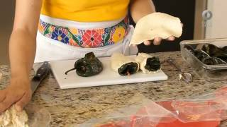Tu cocina - Chile poblano relleno de frijol