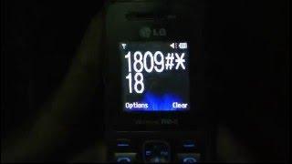Factory Reset LG a180 wireless fm phone.