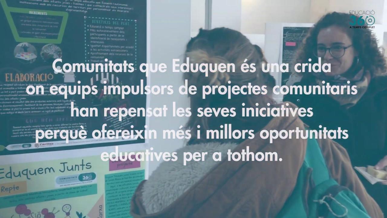 Jornada Construïm l'educació comunitària del futur. Educació 360