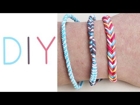 DIY 3 sommerliche Armbänder | rund flechten + Fischgrät | easy