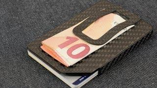FEDERLEICHTES Slim Wallet aus 100% CARBON inkl. RFID Schutz von Slimpuro // DEUTSCH