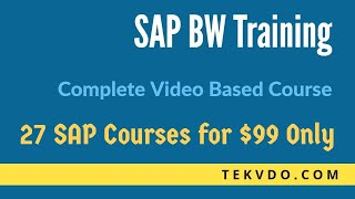 SAP BW Training - Complete BW Course - SAP BI Training