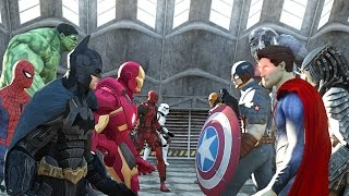 Batman vs Superman vs Captain America vs Ironman vs Hulk vs Deadpool vs Spiderman vs Goku