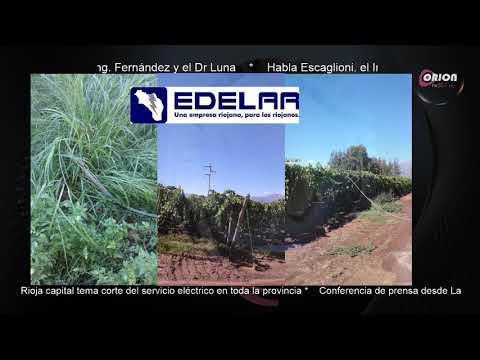 La Empresa EDELAR brindo una conferencia de prensa con información sobre lo ocurrido el 1 de enero.
