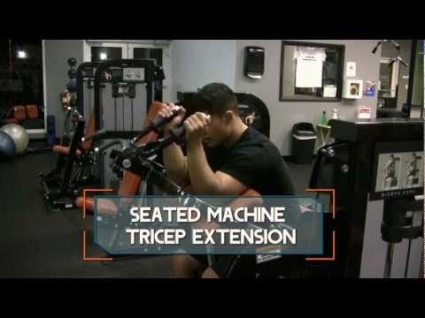 Seated Machine Tricep Extension