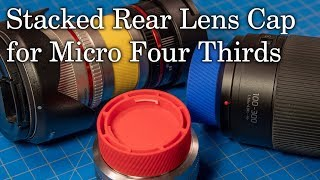 Stacking Rear Lens Cap for Micro Four Thirds Lenes