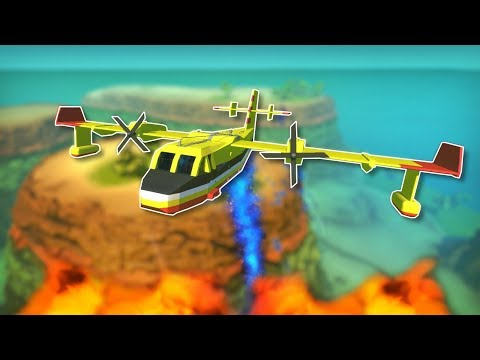 Trying to Put Fires Out from the Sky! - Scrap Mechanic Creations!