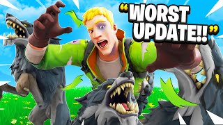 I Trolled Him With WOLVES in Fortnite! (RAGE)