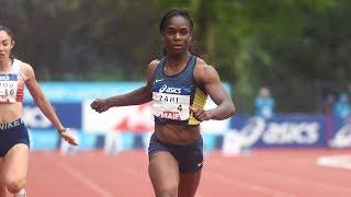 Saint-Etienne 2019 : Finale 100 m F (Carolle Zahi en 11''29)
