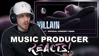 Music Producer Reacts to K/DA - VILLAIN ft. Madison Beer and Kim Petras