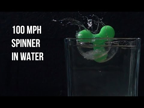 100 MPH SPINNERS IN WATER / Slow motion test