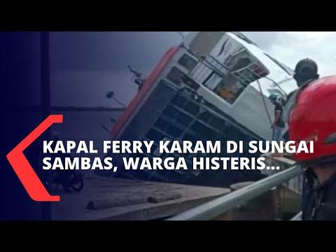 Kapal Ferry Karam di Sungai Sambas, Layanan Kesehatan dan Aktivitas Warga Kini Terhambat