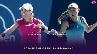 Monica Niculescu vs. Caroline Wozniacki    2019 Miami Open Third Round   WTA Highlights