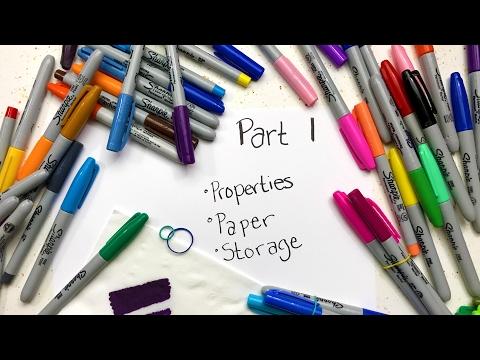 Sharpie Coloring Secrets: Part 1 - Properties, Storage & Paper