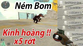 Pha ném bom Kinh Hoàng ( 5 người rớt nài ) - Chế Độ Parkour Thủ Cửa Zombie Escape
