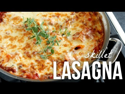 Skillet Lasagna!! Easy 30 Minute Stove Top Lasagne Recipe