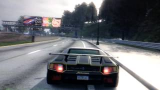 preview picture of video 'Dropping a car into water at Burnout paradise'