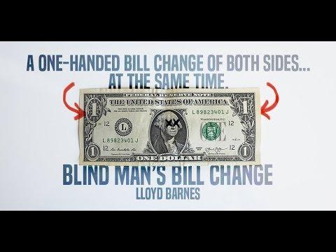 Blind Man's Bill Change by Lloyd Barnes