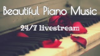 Gambar cover Beautiful Piano Music. 24/7 Music for Relaxation - Study - Stress Relief