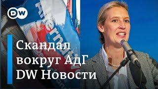 Незаконные пожертвования из-за рубежа: что грозит правым популистам из АдГ - DW Новости (12.11.2018)