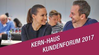 Zum siebsten Mal in Folge lud Kern-Haus seine Bauherren zum Kundenforum nach Koblenz ein. Die Unternehmensentwicklung und das individuelle Feedback der Bauherren stehen dabei im Mittelpunkt. Dabei verliert das Kern-Haus-Team nie sein Ziel aus den Augen: Begeisterte Kunden schaffen!
