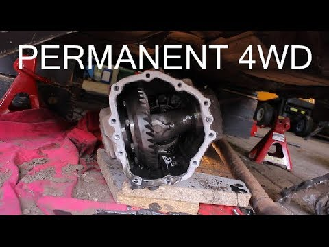 Permanent 4wd conversion on the Subaru Justy 0 budget rally car