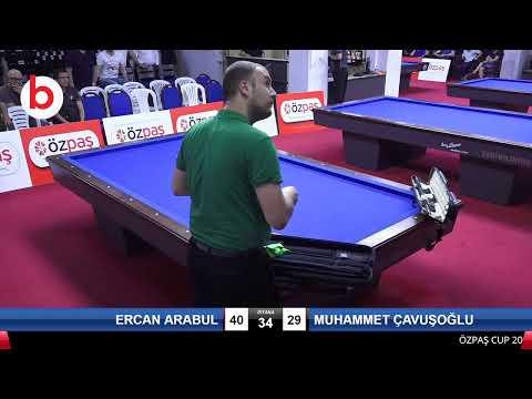ERCAN ARABUL & MUHAMMET ÇAVUŞOĞLU Bilardo Maçı - SAKARYA ÖZPAŞ CUP 2019-3.TUR