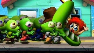 Zombie Tsunami #2 Игровой мультик для детей про зомби, веселый детский мультик игра для малышей.