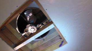 Installation of an Air Vent Whole House Fan