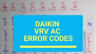 daikin vrv system error codes pdf - Thủ thuật máy tính