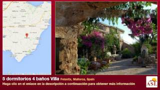 preview picture of video '5 dormitorios 4 baños Villa se Vende en Felanitx, Mallorca, Spain'