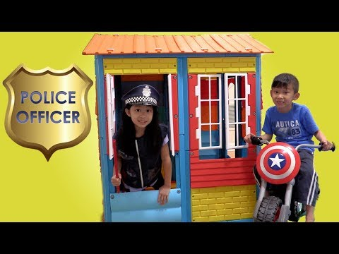 Pretend Play POLICE with Ryan's Toy Review inspired- I MAILED MYSELF to Ryan ToysReview and it WORK3