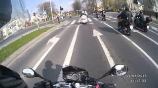 preview picture of video 'Rozpoczęcie Sezonu Motocyklowego - Piotrków Trybunalski - Przejazd na lotnisko - 12.04.2015'