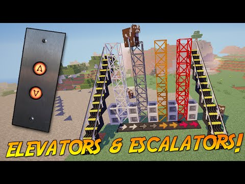 ELEVATORS, ESCALATORS & CONVEYOR BELTS! [1.8.9/1.8] | Minecraft Mod Showcase!