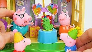 बच्चों के लिए सर्वश्रेष्ठ पेप्पा पिग लर्निंग वीडियो - जॉर्ज की जन्मदिन की पार्टी साहसिक!