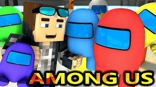 AMONG US vs MINECRAFT RTX CHALLENGE! (Cartoon Logic Horror Minecraft Animation) Imposters Crewmates