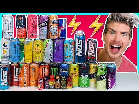 MIXING EVERY ENERGY DRINK TOGETHER! - EXTREME TASTE TEST
