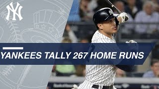 Yankees tally a record 267 home runs in 2018