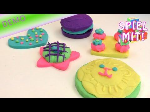 Play Doh Plätzchen Party mit Krümelmonster Demo Sweet Shoppe Kekseee