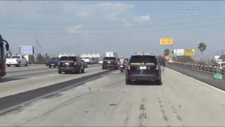 Carjacking Pursuit Ends In Fatal OIS  / Riverside County  RAW FOOTAGE