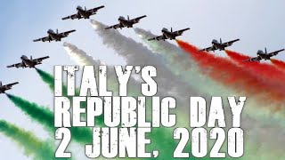 Italian Air Force paints the town red, white and green : Italy's Republic Day 2 June 2020