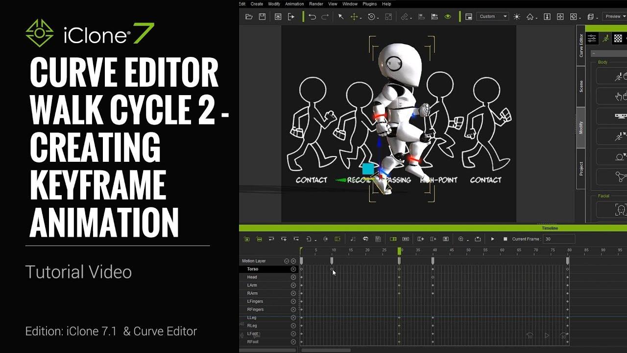 Walk Cycle 2 - Creating Keyframe Animation
