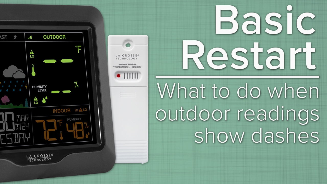 La crosse technology weather station reset
