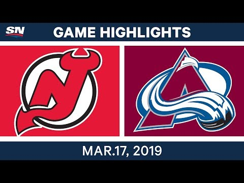 NHL Highlights | Devils vs Avalanche – Mar 17, 2019