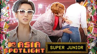 YESUNG Avoids Getting Hit Trying To Propose To ELFs | SUPER JUNIOR Plays Jenga | Asia Spotlight