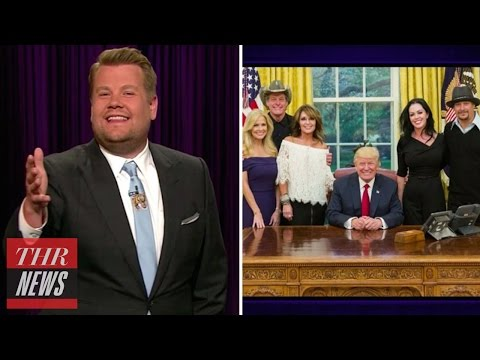 Late Night Hosts Mock Sarah Palin, Kid Rock, Ted Nugent Visit to White House | THR News